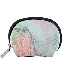 Geode Crystal Pink Blue Accessory Pouches (small)  by Mariart