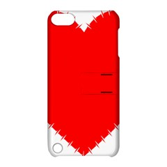 Heart Rhythm Inner Red Apple Ipod Touch 5 Hardshell Case With Stand by Mariart