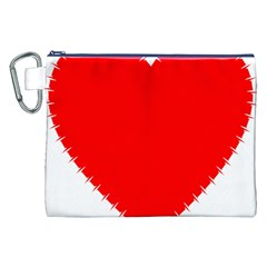 Heart Rhythm Inner Red Canvas Cosmetic Bag (xxl) by Mariart