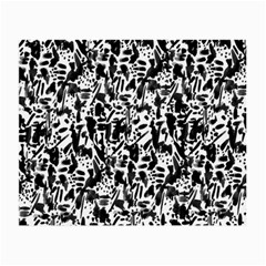 Deskjet Ink Splatter Black Spot Small Glasses Cloth (2 Side) by Mariart