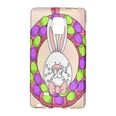 Make An Easter Egg Wreath Rabbit Face Cute Pink White Galaxy Note Edge by Mariart
