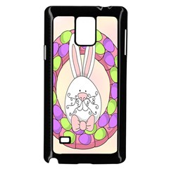 Make An Easter Egg Wreath Rabbit Face Cute Pink White Samsung Galaxy Note 4 Case (black) by Mariart
