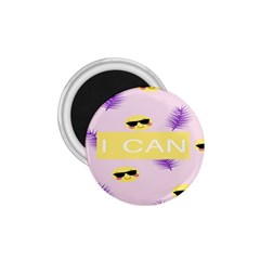 I Can Purple Face Smile Mask Tree Yellow 1 75  Magnets by Mariart