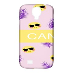 I Can Purple Face Smile Mask Tree Yellow Samsung Galaxy S4 Classic Hardshell Case (pc+silicone) by Mariart