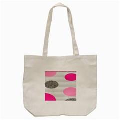 Polkadot Circle Round Line Red Pink Grey Diamond Tote Bag (cream) by Mariart