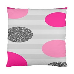 Polkadot Circle Round Line Red Pink Grey Diamond Standard Cushion Case (one Side) by Mariart