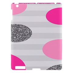 Polkadot Circle Round Line Red Pink Grey Diamond Apple Ipad 3/4 Hardshell Case by Mariart