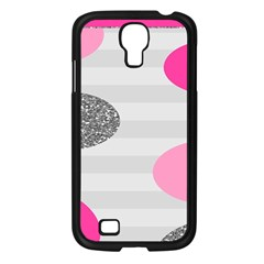 Polkadot Circle Round Line Red Pink Grey Diamond Samsung Galaxy S4 I9500/ I9505 Case (black) by Mariart