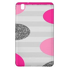 Polkadot Circle Round Line Red Pink Grey Diamond Samsung Galaxy Tab Pro 8 4 Hardshell Case by Mariart
