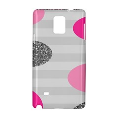 Polkadot Circle Round Line Red Pink Grey Diamond Samsung Galaxy Note 4 Hardshell Case by Mariart