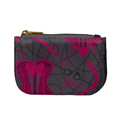 Pink Black Handcuffs Key Iron Love Grey Mask Sexy Mini Coin Purses by Mariart