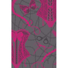 Pink Black Handcuffs Key Iron Love Grey Mask Sexy 5 5  X 8 5  Notebooks by Mariart