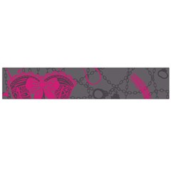 Pink Black Handcuffs Key Iron Love Grey Mask Sexy Flano Scarf (large) by Mariart