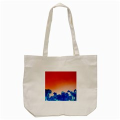 Simulate Weather Fronts Smoke Blue Orange Tote Bag (cream) by Mariart