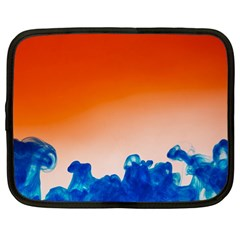 Simulate Weather Fronts Smoke Blue Orange Netbook Case (large) by Mariart