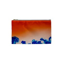 Simulate Weather Fronts Smoke Blue Orange Cosmetic Bag (small)  by Mariart