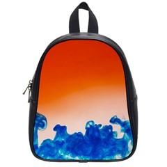Simulate Weather Fronts Smoke Blue Orange School Bags (small)  by Mariart