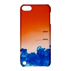 Simulate Weather Fronts Smoke Blue Orange Apple Ipod Touch 5 Hardshell Case With Stand by Mariart