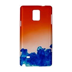 Simulate Weather Fronts Smoke Blue Orange Samsung Galaxy Note 4 Hardshell Case by Mariart