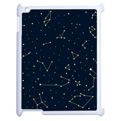 Star Zodiak Space Circle Sky Line Light Blue Yellow Apple Ipad 2 Case (white) by Mariart
