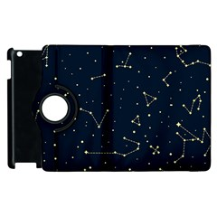 Star Zodiak Space Circle Sky Line Light Blue Yellow Apple Ipad 2 Flip 360 Case by Mariart