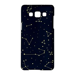 Star Zodiak Space Circle Sky Line Light Blue Yellow Samsung Galaxy A5 Hardshell Case  by Mariart