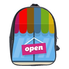 Store Open Color Rainbow Glass Orange Red Blue Brown Green Pink School Bags(large)  by Mariart