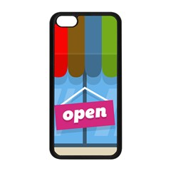 Store Open Color Rainbow Glass Orange Red Blue Brown Green Pink Apple Iphone 5c Seamless Case (black) by Mariart