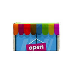Store Open Color Rainbow Glass Orange Red Blue Brown Green Pink Cosmetic Bag (xs) by Mariart