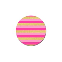 Pink Line Gold Red Horizontal Golf Ball Marker (4 Pack) by Mariart