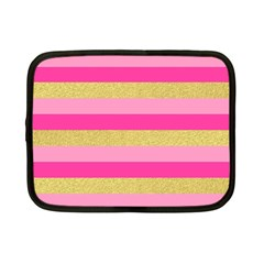 Pink Line Gold Red Horizontal Netbook Case (small)  by Mariart