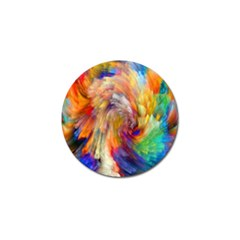 Rainbow Color Splash Golf Ball Marker (4 Pack) by Mariart