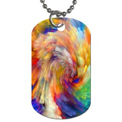 Rainbow Color Splash Dog Tag (two Sides) by Mariart