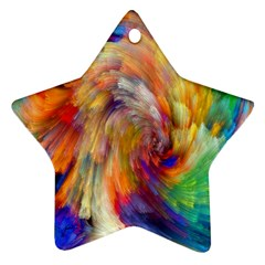 Rainbow Color Splash Star Ornament (two Sides) by Mariart