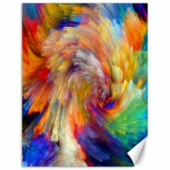 Rainbow Color Splash Canvas 18  X 24   by Mariart