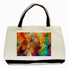 Rainbow Color Splash Basic Tote Bag (two Sides) by Mariart