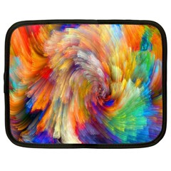 Rainbow Color Splash Netbook Case (large) by Mariart