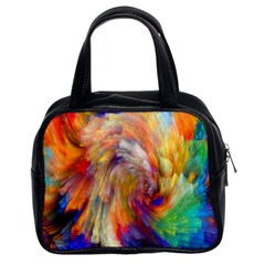 Rainbow Color Splash Classic Handbags (2 Sides) by Mariart