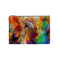 Rainbow Color Splash Cosmetic Bag (medium)  by Mariart