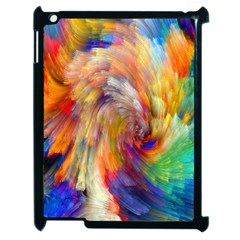 Rainbow Color Splash Apple Ipad 2 Case (black) by Mariart