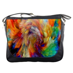 Rainbow Color Splash Messenger Bags by Mariart