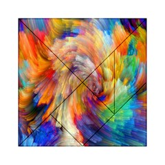 Rainbow Color Splash Acrylic Tangram Puzzle (6  X 6 ) by Mariart