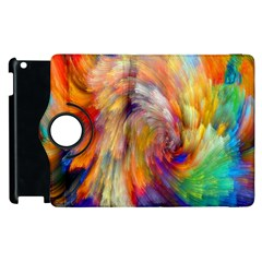 Rainbow Color Splash Apple Ipad 3/4 Flip 360 Case by Mariart