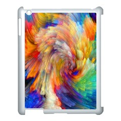 Rainbow Color Splash Apple Ipad 3/4 Case (white) by Mariart