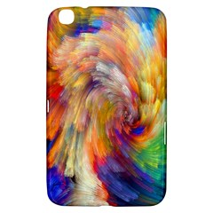 Rainbow Color Splash Samsung Galaxy Tab 3 (8 ) T3100 Hardshell Case  by Mariart