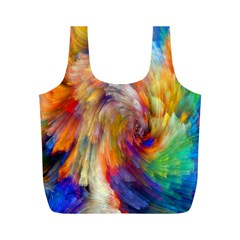 Rainbow Color Splash Full Print Recycle Bags (m)  by Mariart