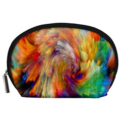 Rainbow Color Splash Accessory Pouches (large)  by Mariart