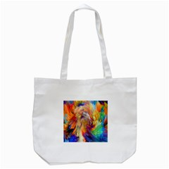 Rainbow Color Splash Tote Bag (white) by Mariart
