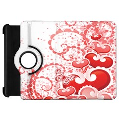 Love Heart Butterfly Pink Leaf Flower Kindle Fire HD 7  by Mariart