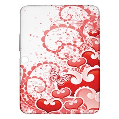 Love Heart Butterfly Pink Leaf Flower Samsung Galaxy Tab 3 (10.1 ) P5200 Hardshell Case